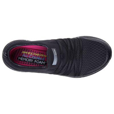 Skechers Sport Burst Very Daring Ladies Running Shoes-Black-Top