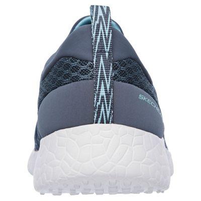 Skechers Sport Burst Very Daring Ladies Running Shoes-Silver-Back