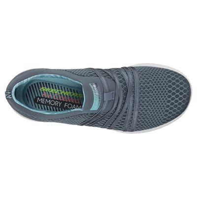 Skechers Sport Burst Very Daring Ladies Running Shoes-Silver-Top