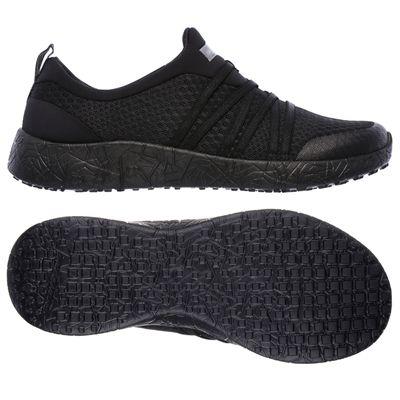 Skechers Sport Burst Very Daring Ladies Running Shoes-Silver - Black
