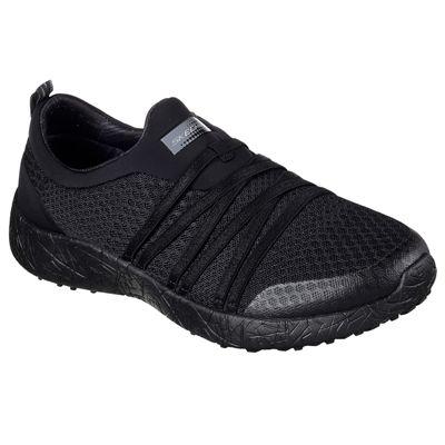 Skechers Sport Burst Very Daring Ladies Running Shoes-Silver - Black - Angled