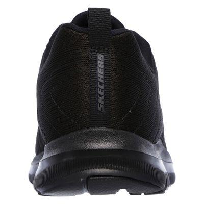 Skechers Sport Flex Appeal 2.0 Break Free Ladies Walking Shoes-Black-Back