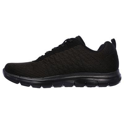Skechers Sport Flex Appeal 2.0 Break Free Ladies Walking Shoes-Black-Medial
