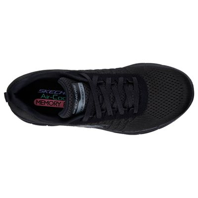Skechers Sport Flex Appeal 2.0 Break Free Ladies Walking Shoes-Black-Top