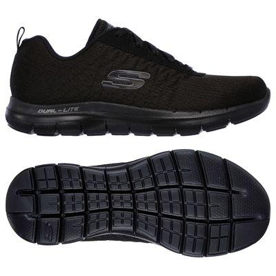 Skechers Sport Flex Appeal 2.0 Break Free Ladies Walking Shoes-Black