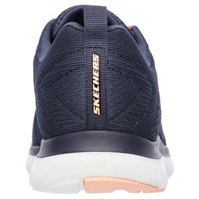 Skechers Sport Flex Appeal 2.0 Break Free Ladies Walking Shoes-Charcoal-Back