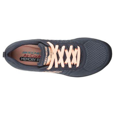 Skechers Sport Flex Appeal 2.0 Break Free Ladies Walking Shoes-Charcoal-Top