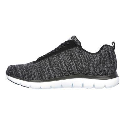 Skechers Sport Flex Appeal 2.0 Ladies Walking Shoes-Black-White-Side