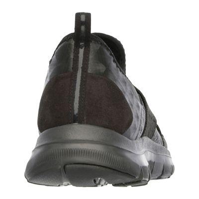 Skechers Sport Flex Appeal 2.0 Ladies Walking Shoes-Black-Back