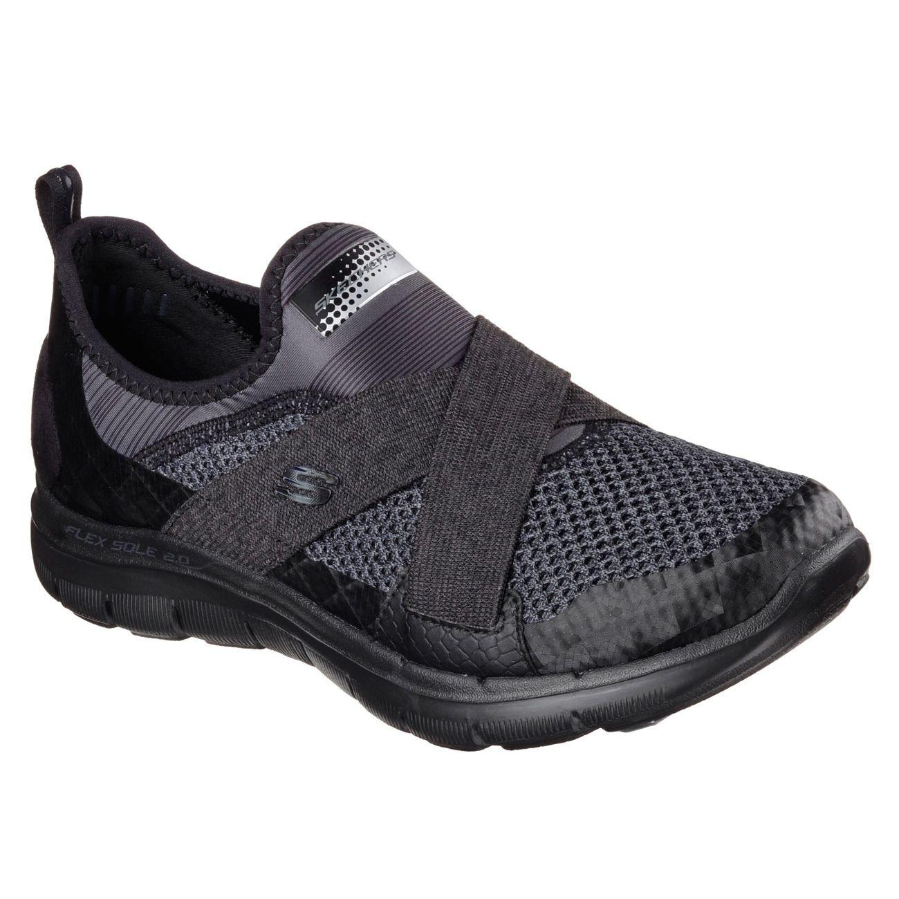 Skechers Black Velcro Shoes