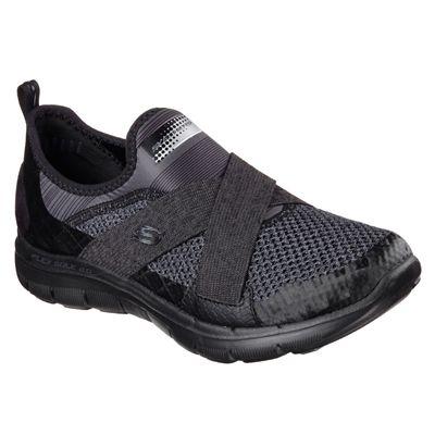 Skechers Sport Flex Appeal 2.0 Ladies Walking Shoes-Black