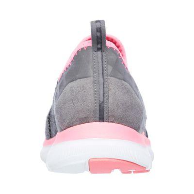Skechers Sport Flex Appeal 2.0 Ladies Walking Shoes-Grey-Back