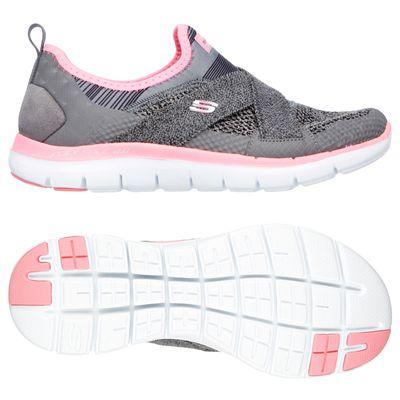 Skechers Sport Flex Appeal 2.0 Ladies Walking Shoes-Grey-Main