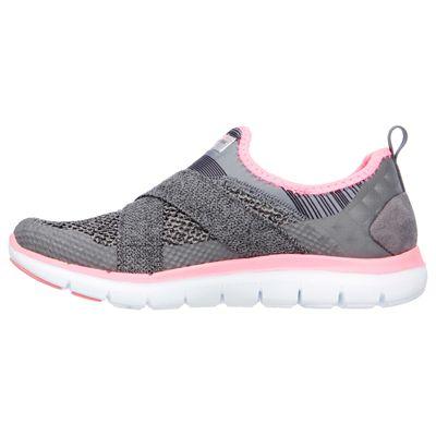 Skechers Sport Flex Appeal 2.0 Ladies Walking Shoes-Grey-Side