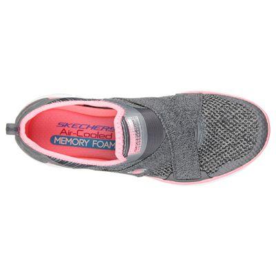 Skechers Sport Flex Appeal 2.0 Ladies Walking Shoes-Grey-Top