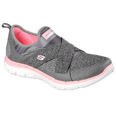 Skechers Sport Flex Appeal 2.0 Ladies Walking Shoes-Grey