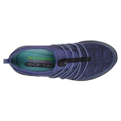 Skechers Synergy 2.0 Simply Chic Ladies Walking Shoes - Navy - Above