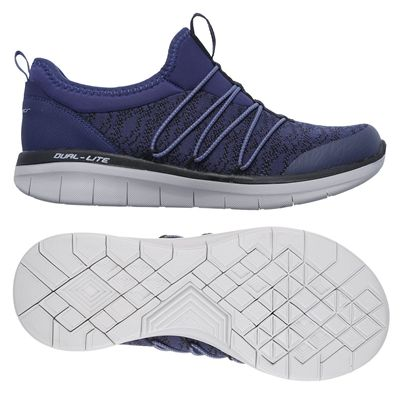 Skechers Synergy 2.0 Simply Chic Ladies Walking Shoes - Navy