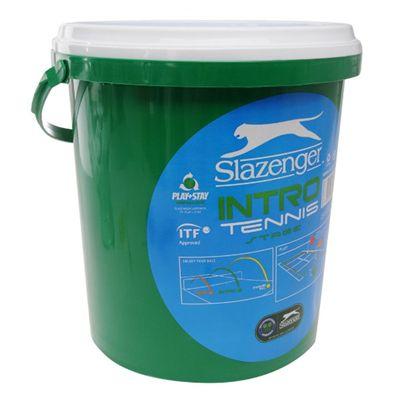 Slazenger Mini Tennis Green 60 Ball Bucket- new-b