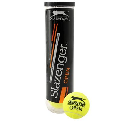 Slazenger Open Tennis Ball - tube and ball