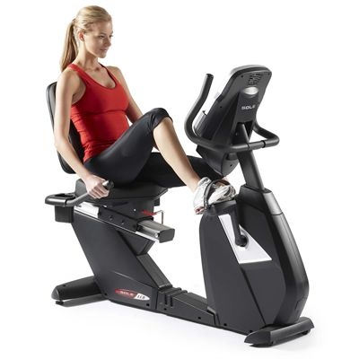 Sole Fitness LCR Recumbent Cycle Front in Use