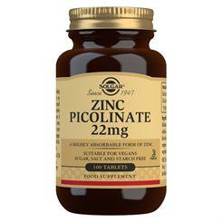 Solgar Zinc Picolinate 22mg - 100 Tablets
