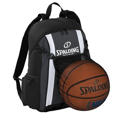 Spalding Backpack SS17 - Black/Grey - In Use