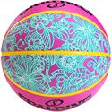 Spalding NBA 4 Her Basketball Pink Blue Rear View