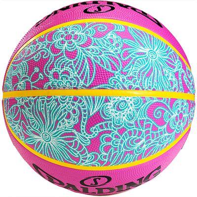 Spalding NBA 4 Her Basketball Pink Blue Rear View
