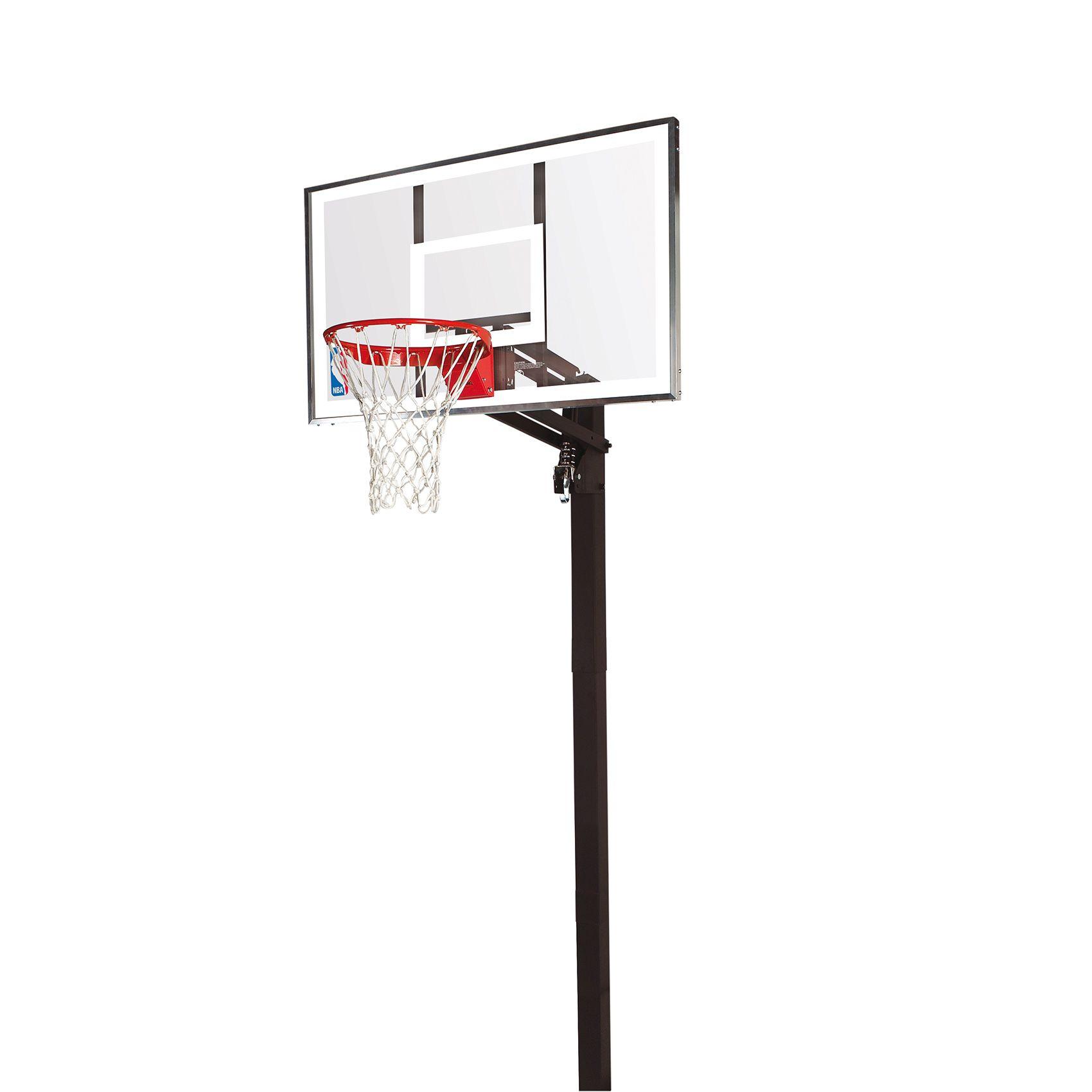 Spalding NBA Gold In Ground Basketball Hoop - Sweatband.com