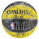 Spalding NBA Graffiti Outdoor Basketball - Yellow/Black