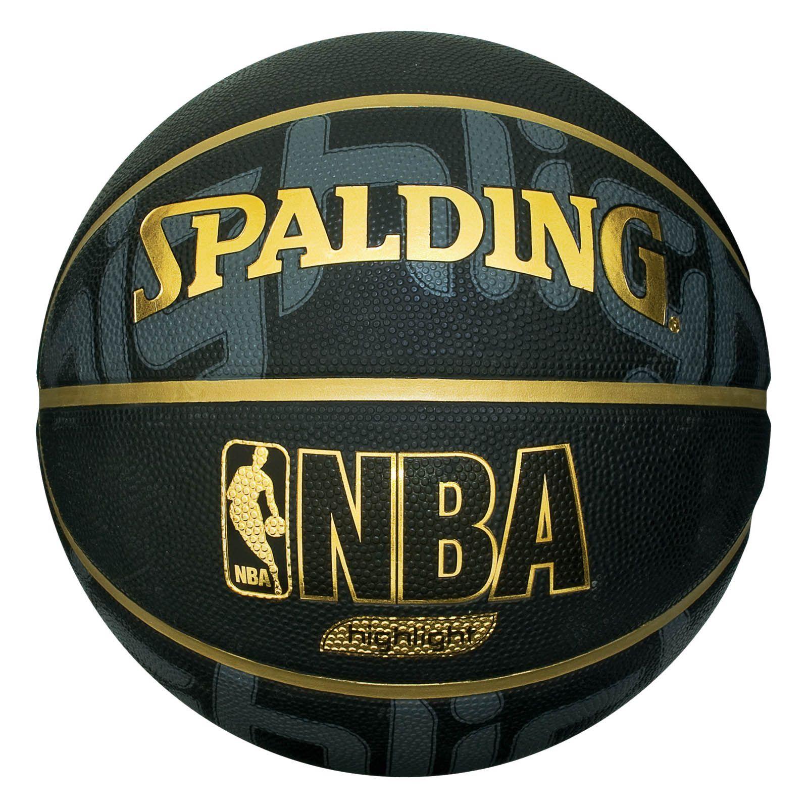 Spalding NBA Highlight Black Basketball - Sweatband.com
