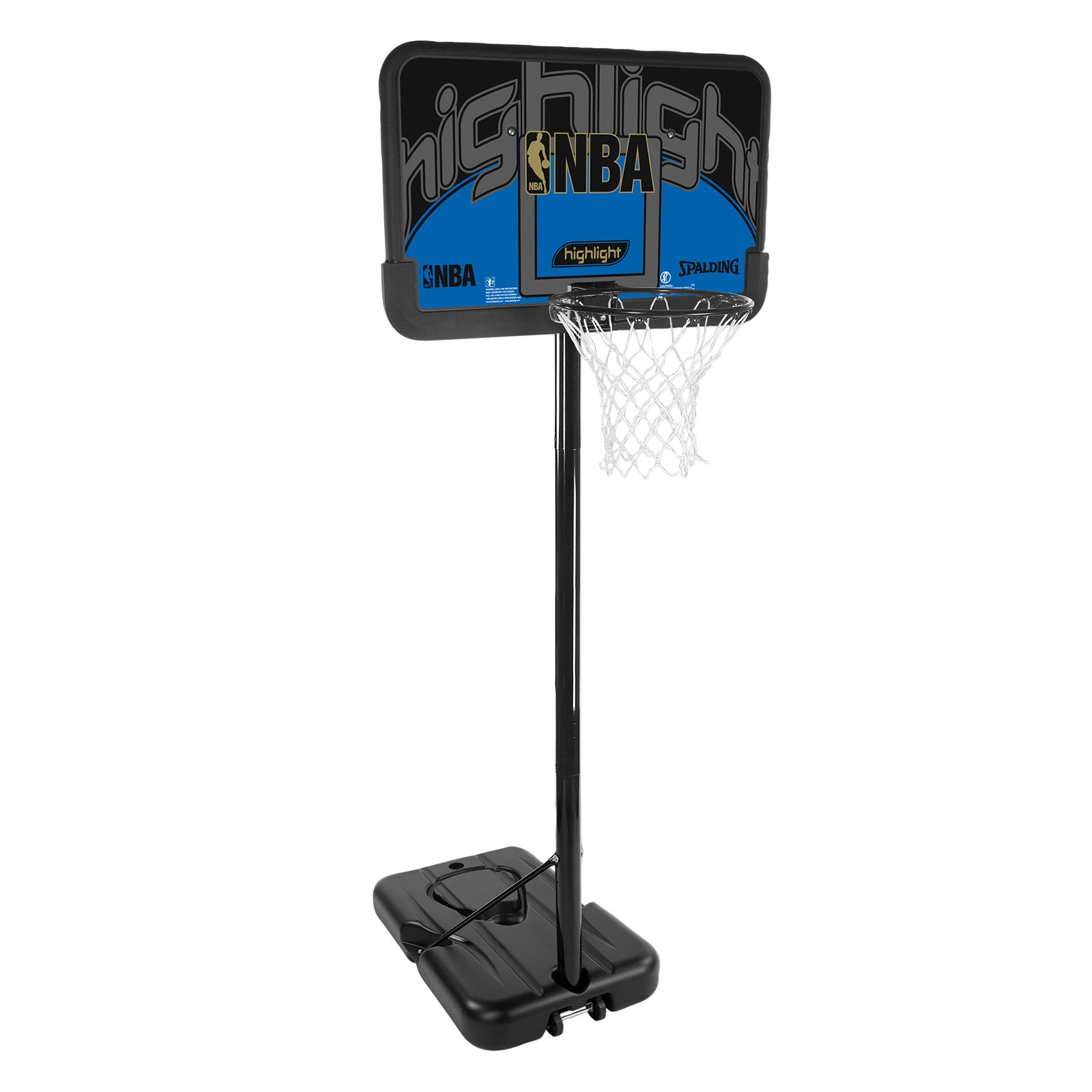 Basketball system spalding nba highlight composite portable basketball