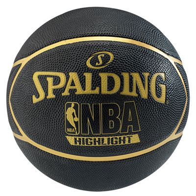 Spalding NBA Highlight Outdoor Basketball - Black and Gold