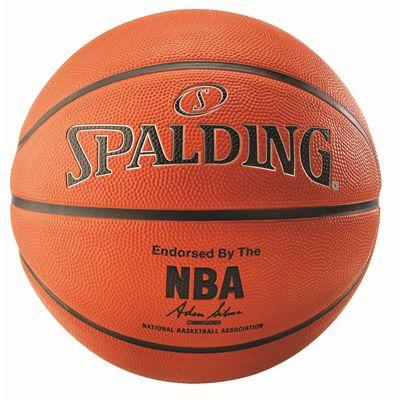 Spalding NBA Silver Outdoor Basketball -Back