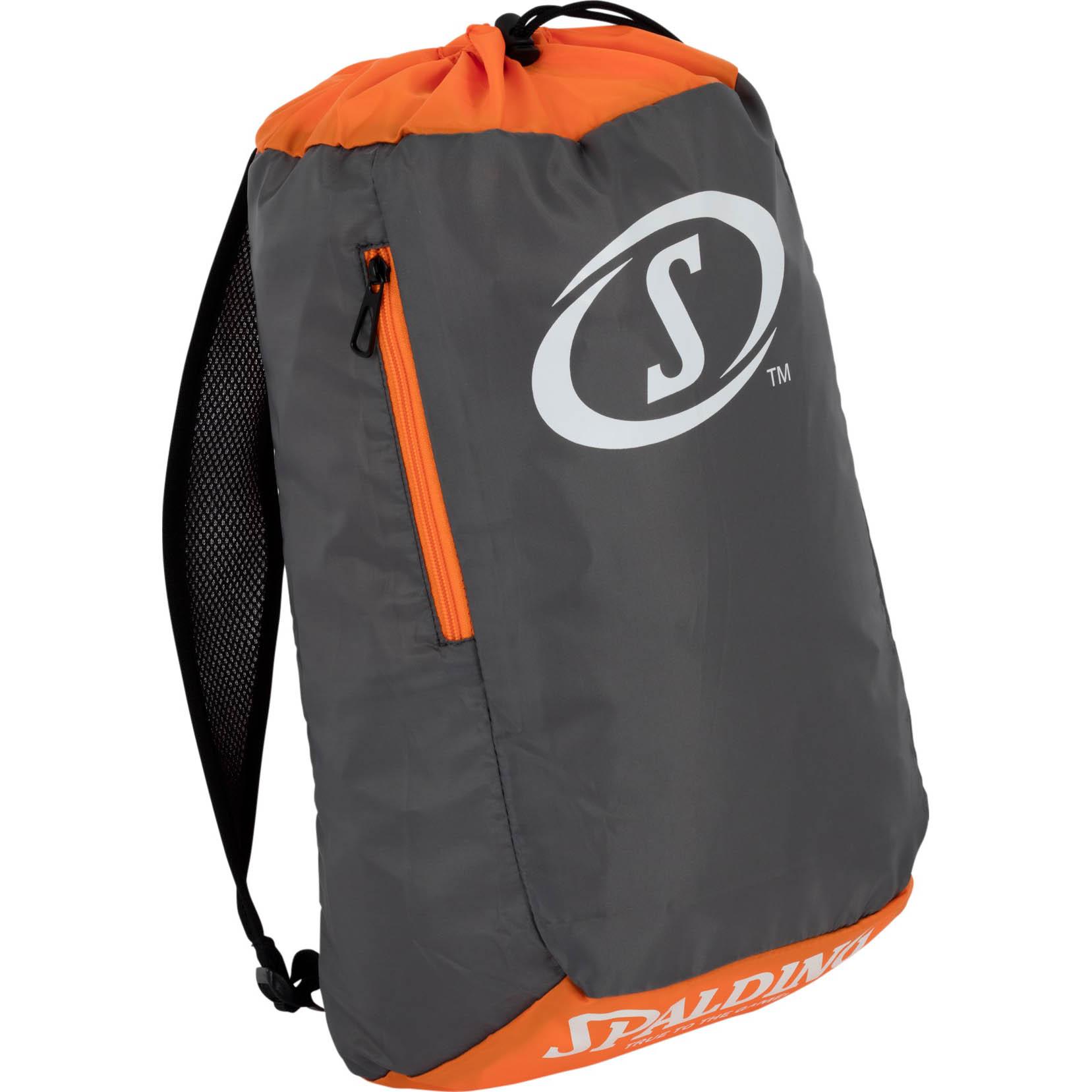 Spalding Sackpack Adult - Grey/Orange