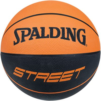 Spalding Street Soft Touch Rubber Basketball Front View