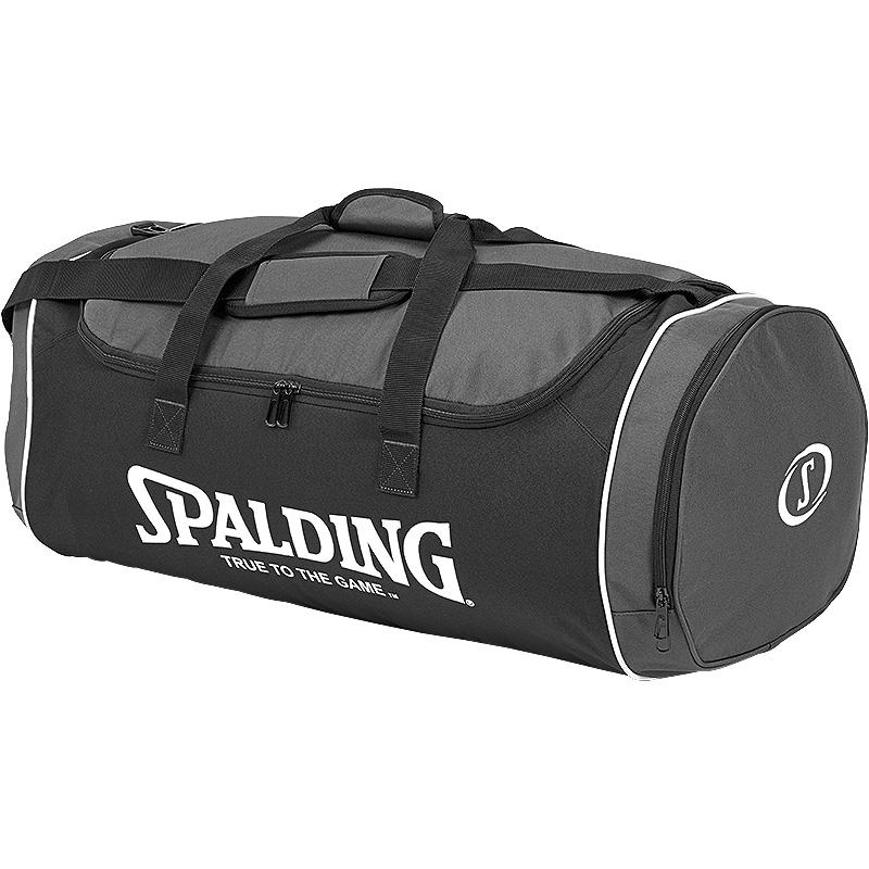 Spalding Tube Large Sport Bag - Black/Grey