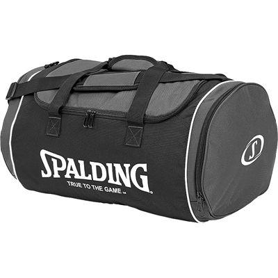 Spalding Tube Medium Sport Bag - Black-Anthracite-White