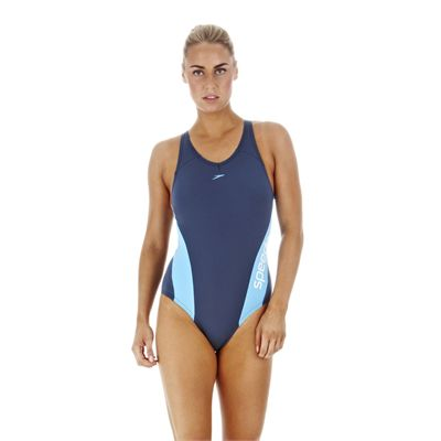 AquaCharge Laneback Ladies Steel Vital Blue White Front