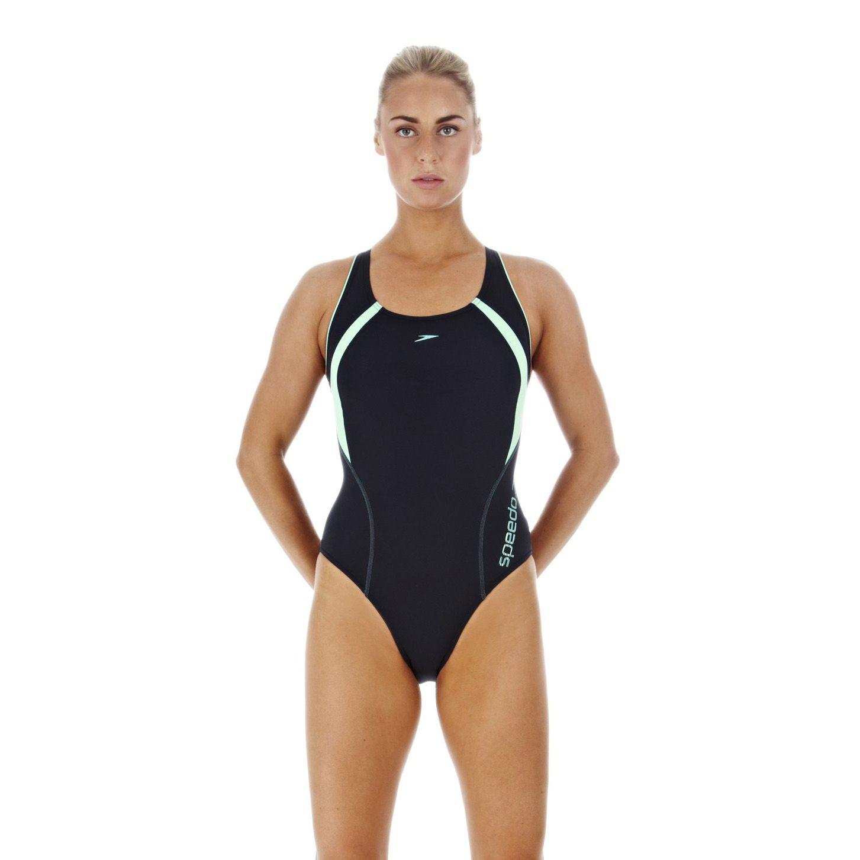 Speedo Lanesprint Powerback Ladies Swimsuit Sweatband Com