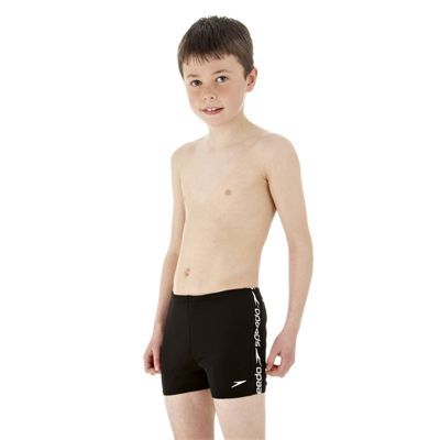 Speedo Superiority Boys Aquashort Black White Side