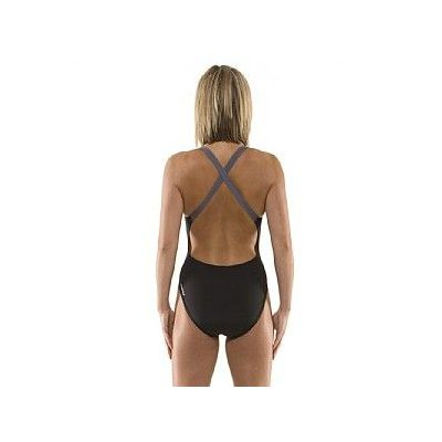 Speedo Endurance LZR Descend Cross Back Ladies Swim Suit - Back