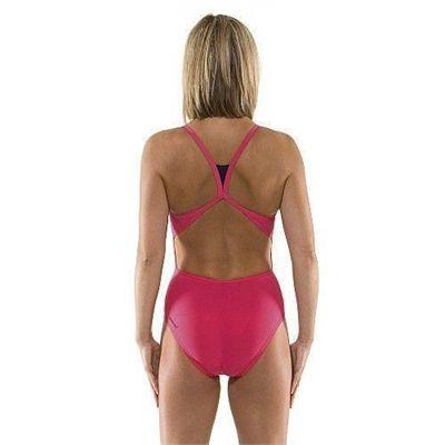 Speedo Endurance Rome Squad Back Ladies Swim Suit - Back