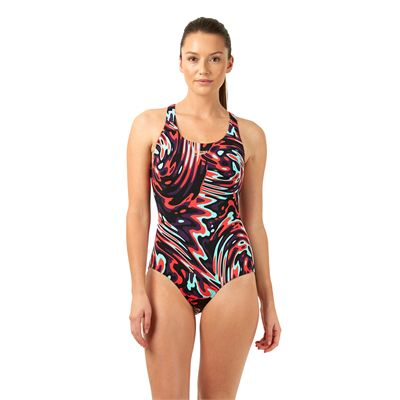 Speedo Allover Powerblack Ladies Swimsuit