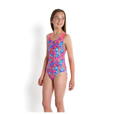 Speedo Allover Splashback Girls Swimsuit-angle