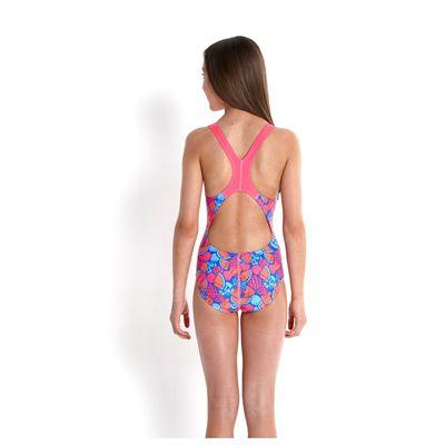 Speedo Allover Splashback Girls Swimsuit-back