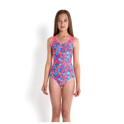 Speedo Allover Splashback Girls Swimsuit-front