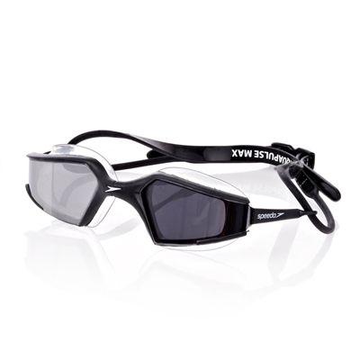 Speedo Aquapulse Max Mirror Goggle - Black/Silver