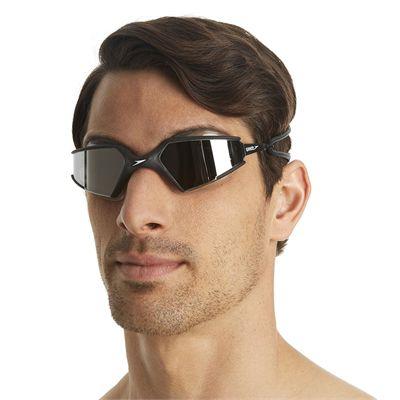 Speedo Aquapulse Max Mirror Goggle Black/Silver - In Use